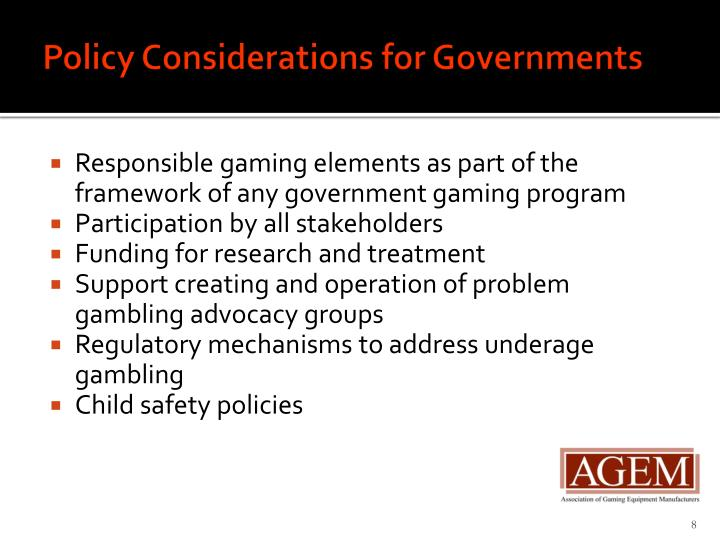 Policy Considerations for Governments