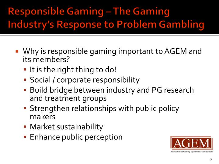 Responsible Gaming – The
