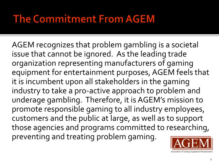 The Commitment From AGEM