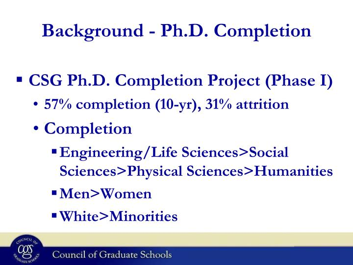 Background - Ph.D. Completion