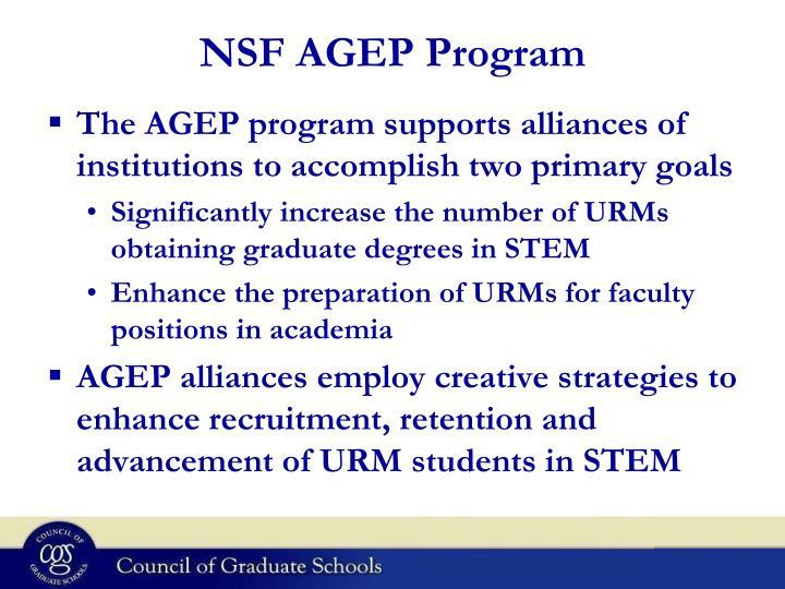 NSF AGEP Program