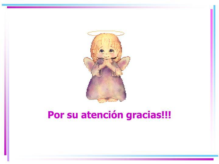 Por su atención gracias!!!