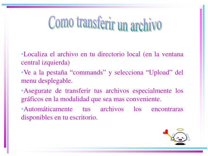 Como transferir un archivo