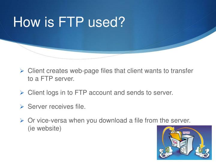 How is ftp used