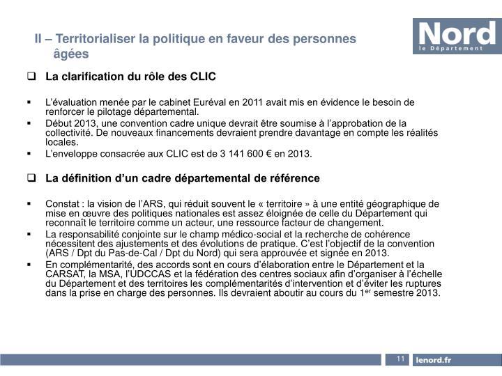 La clarification du rôle des CLIC