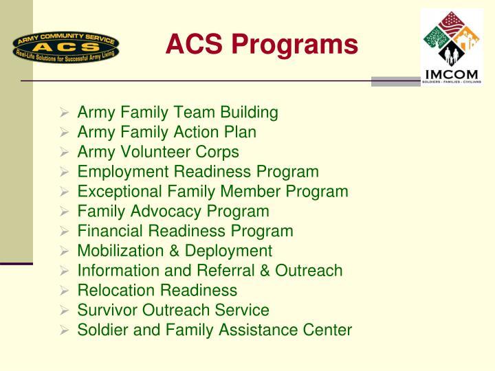 ACS Programs