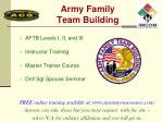 army family team building