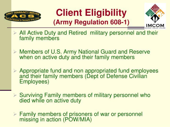 Client Eligibility
