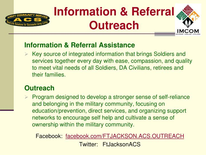Information & Referral Outreach