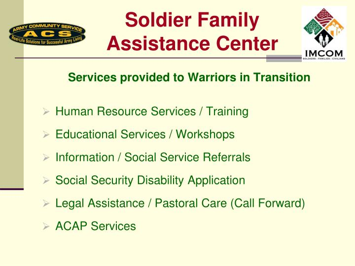 Soldier Family Assistance Center
