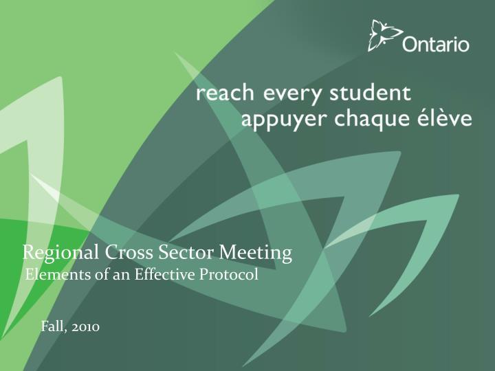 Regional Cross Sector Meeting