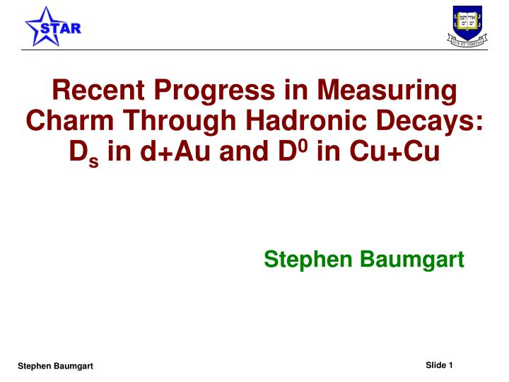 Recent Progress in Measuring Charm Through Hadronic Decays: