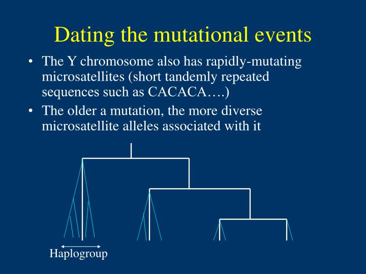 Dating the mutational events