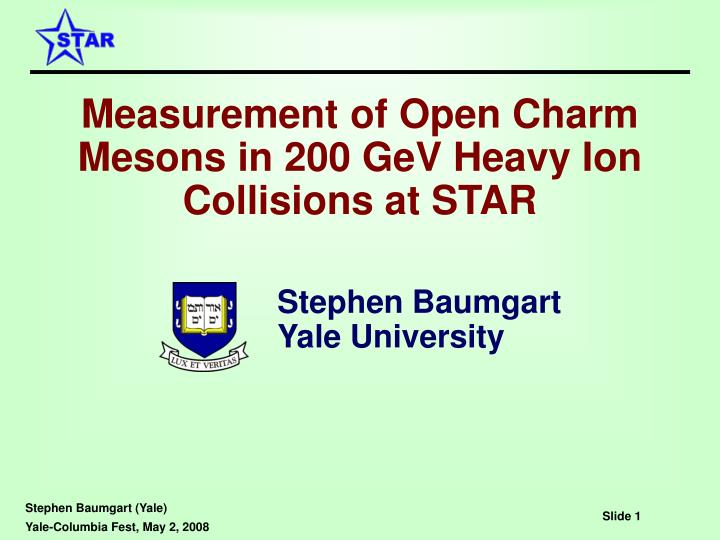Measurement of Open Charm Mesons in 200 GeV Heavy Ion Collisions at STAR
