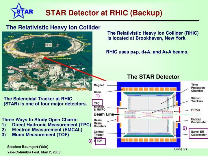 STAR Detector at RHIC (Backup)