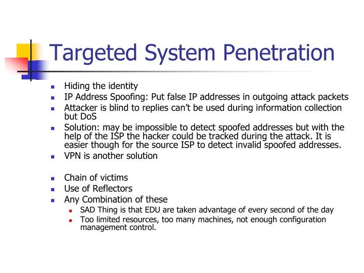 Targeted System Penetration