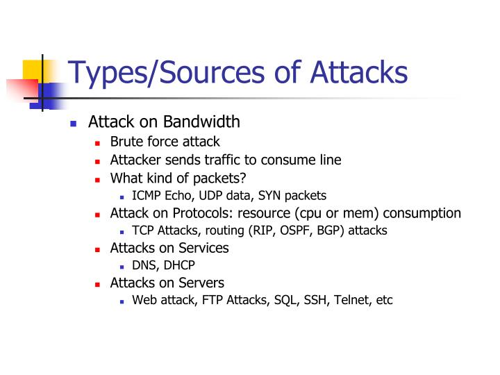 Types/Sources of Attacks