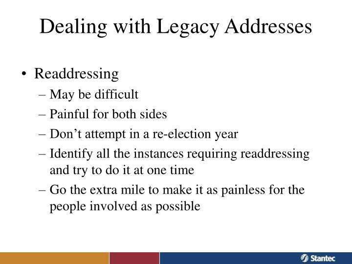 Readdressing