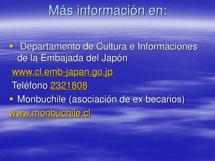 Más información en: