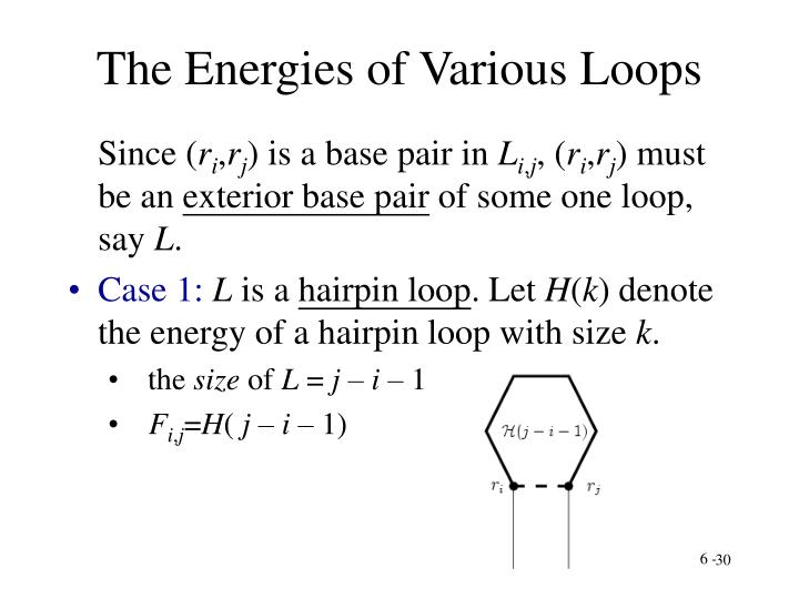 The Energies of Various Loops