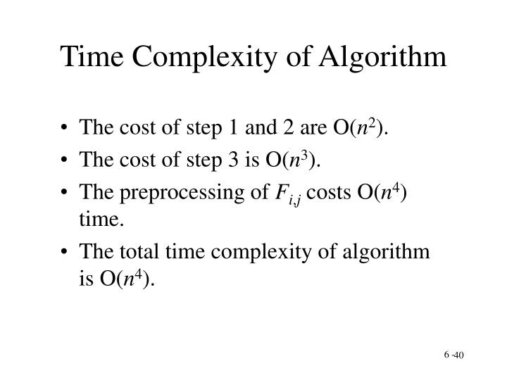 Time Complexity of Algorithm