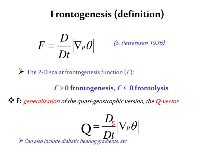 Frontogenesis (definition)