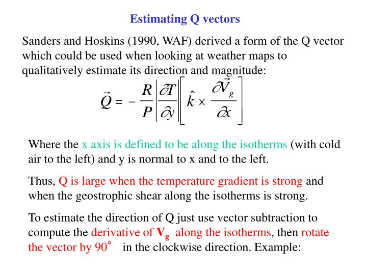 Estimating Q vectors