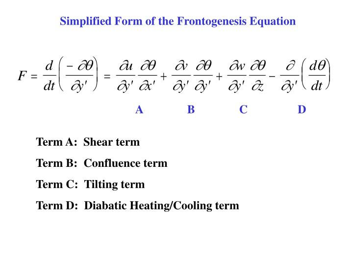 Simplified Form of the Frontogenesis Equation