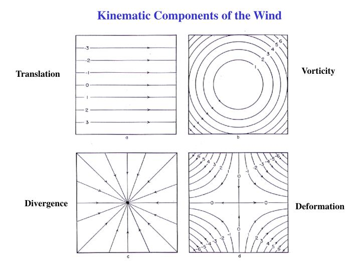 Kinematic Components of the Wind