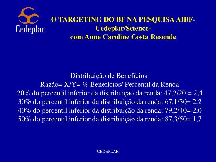 O TARGETING DO BF NA PESQUISA AIBF-Cedeplar/Science-