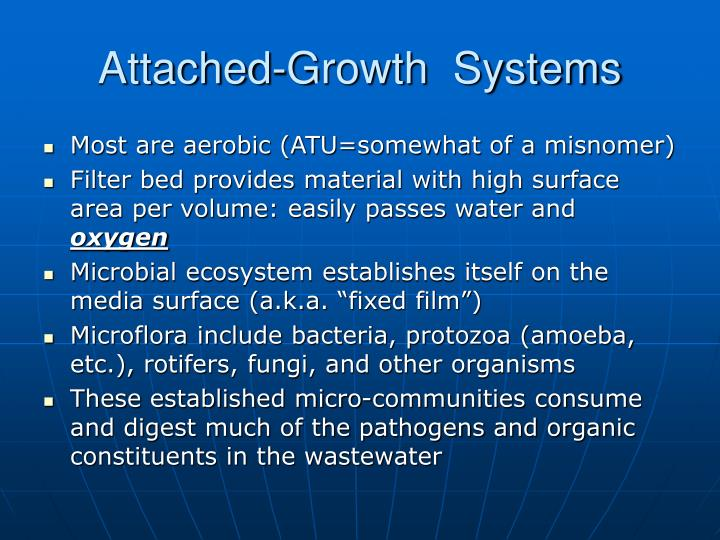 Attached-Growth  Systems