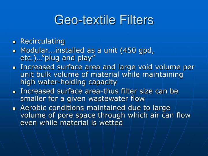 Geo-textile Filters