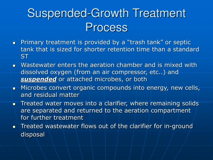 Suspended-Growth Treatment Process