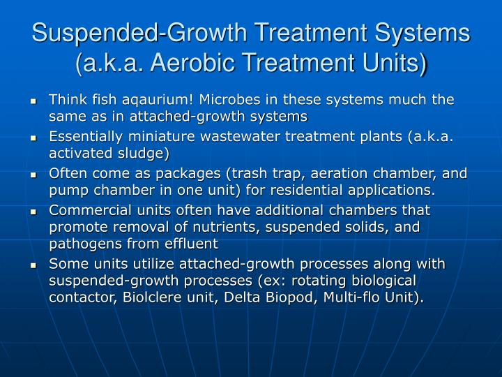 Suspended-Growth Treatment Systems