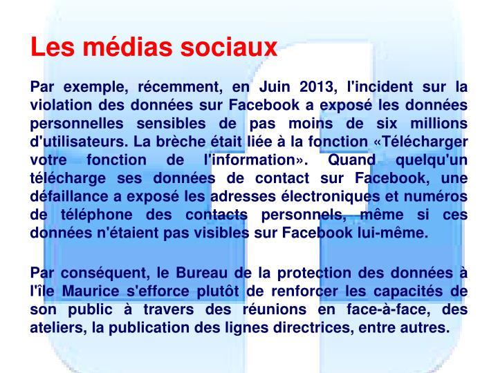 Les médias sociaux