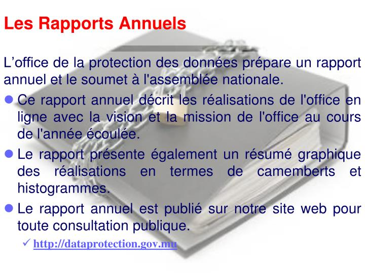Les Rapports Annuels