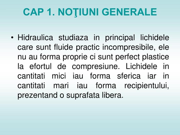 CAP 1. NOŢIUNI GENERALE
