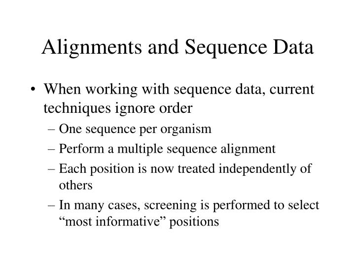 Alignments and Sequence Data