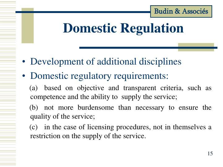Domestic Regulation