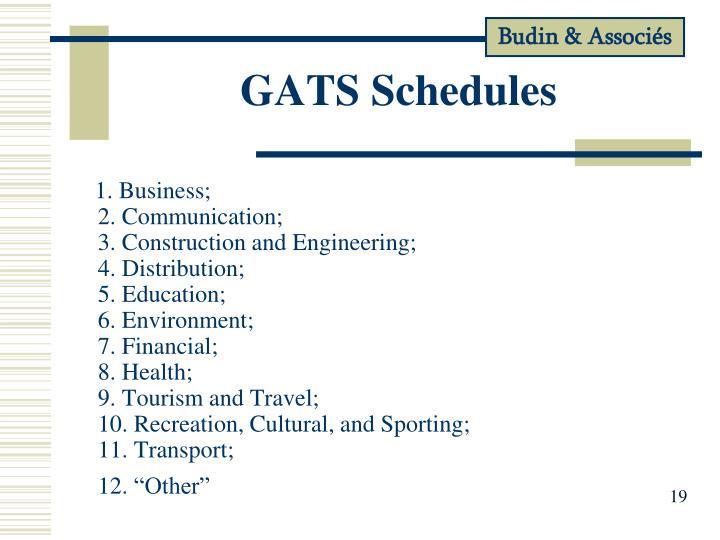 GATS Schedules