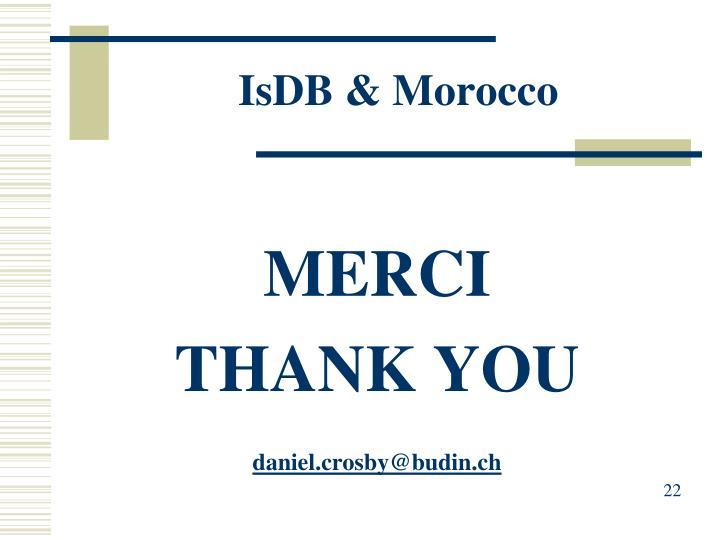 IsDB & Morocco