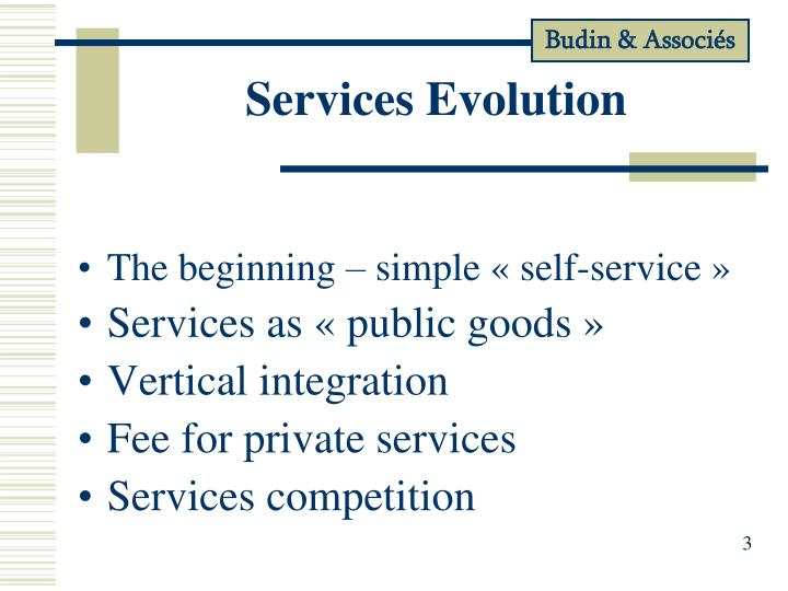 Services Evolution