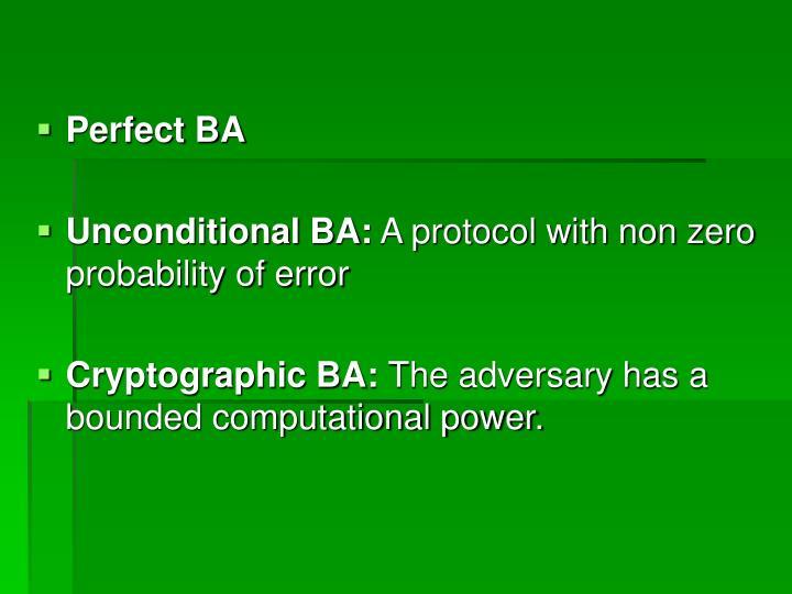 Perfect BA