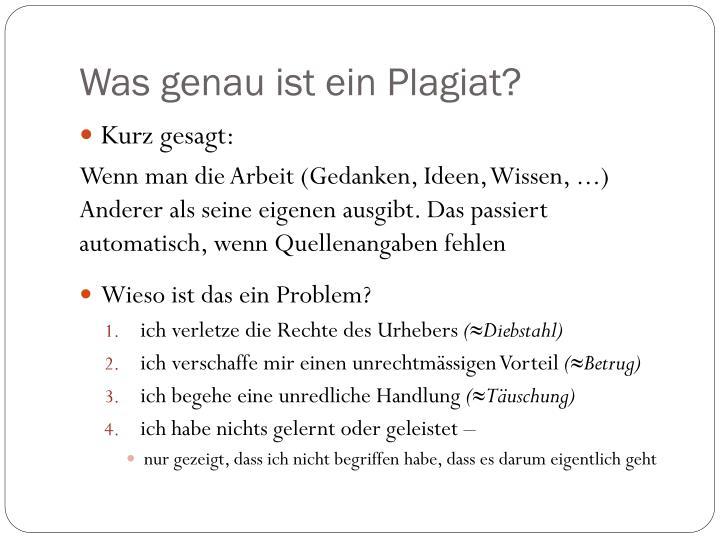 Was genau ist ein Plagiat?