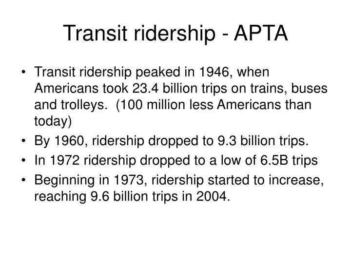 Transit ridership - APTA