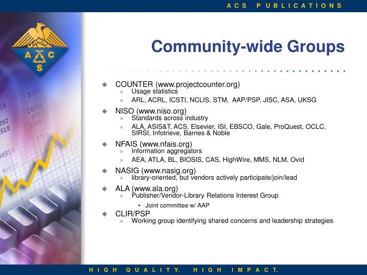 Community-wide Groups