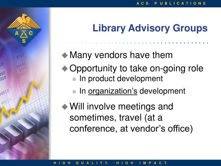 Library Advisory Groups