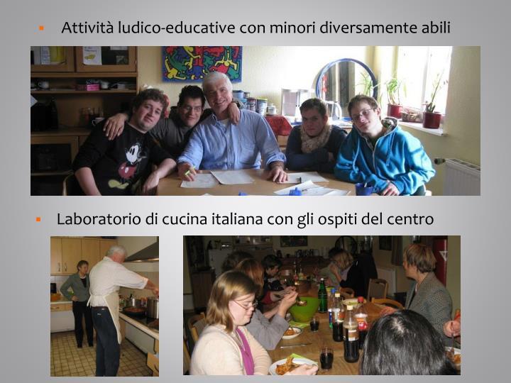 Attività ludico-educative con minori diversamente abili