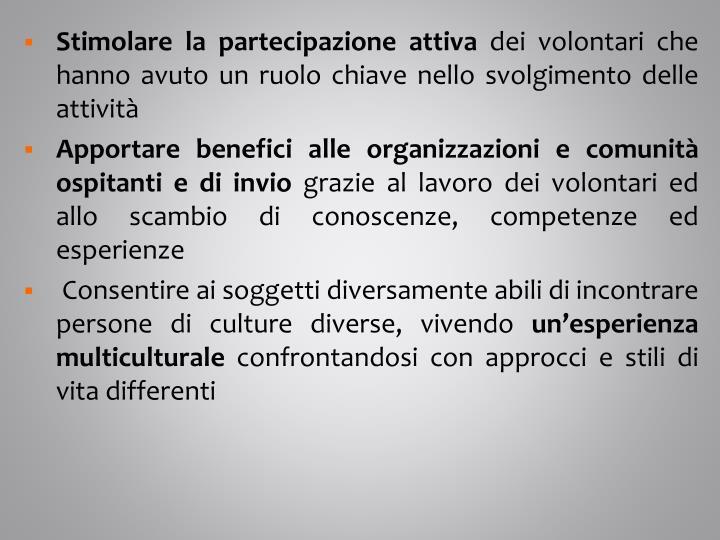 Stimolare la partecipazione attiva