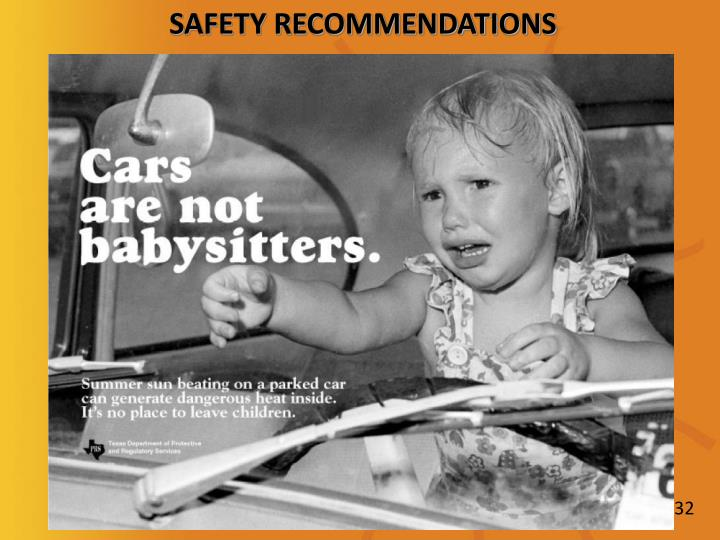 SAFETY RECOMMENDATIONS